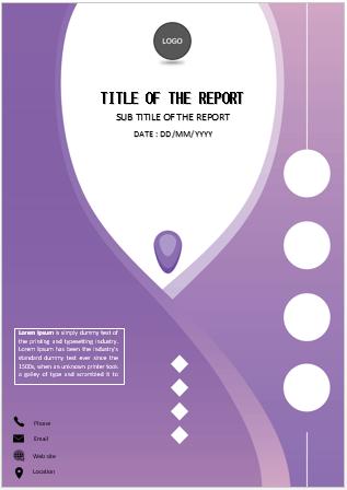 Expressive purple design cover page