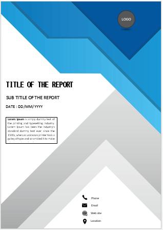 Unique design cover page