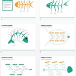 Multicolor Fishbone Diagram PPT