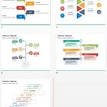 Multicolor Vertical Timeline